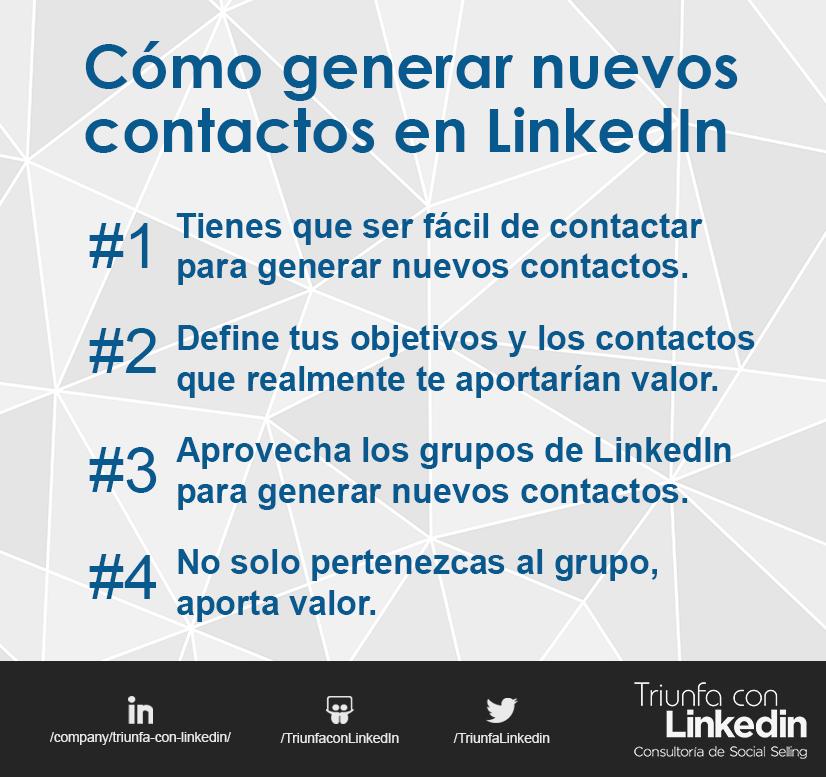Cómo generar nuevos contactos en LinkedIn