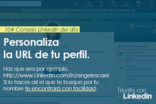 Red Social profesional consejo: personaliza tu URL