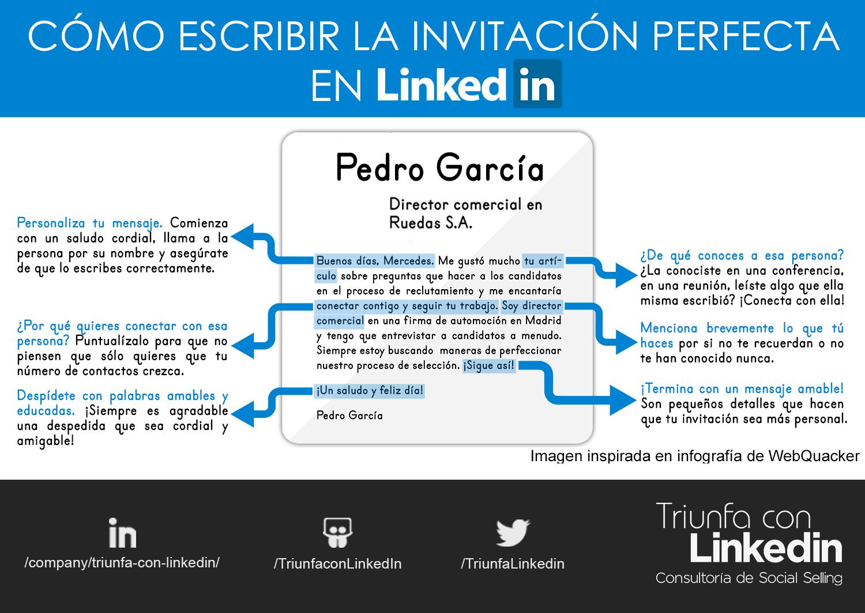 ejemplo de invitación personalizada en LinkedIn