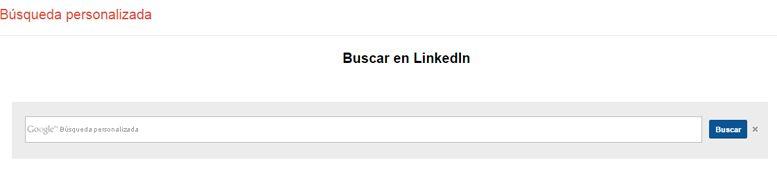 búsqueda personalizada en Google Buscar en LinkedIn