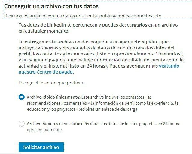 Cómo crear una base de datos con tus contactos de LinkedIn