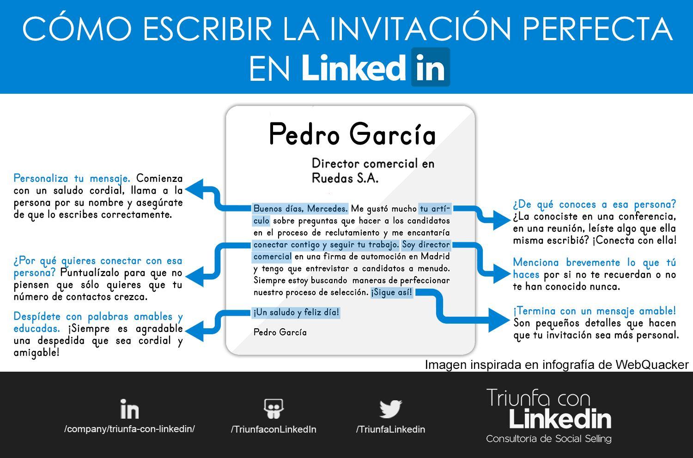 Invitaciones en LinkedIn - Ejemplo Social Networking