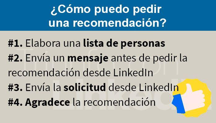 como pedir recomendaciones linkedin