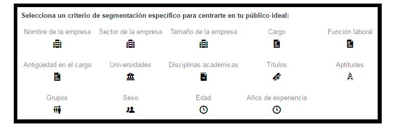 LinkedIn Ads Segmentación