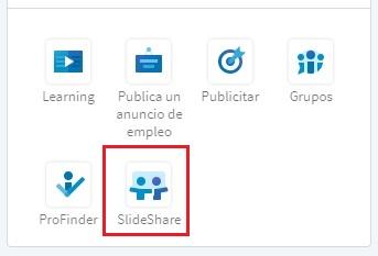 Publicaciones LinkedIn: Acceso a SlideShare