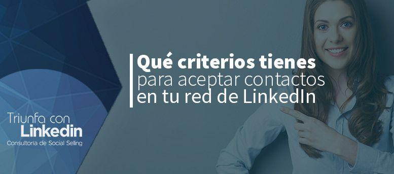 Red de LinkedIn para aceptar contactos