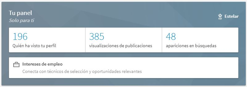 Curiosidades LinkedIn - visitas a tu perfil
