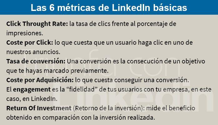 6 métricas en LinkedIn