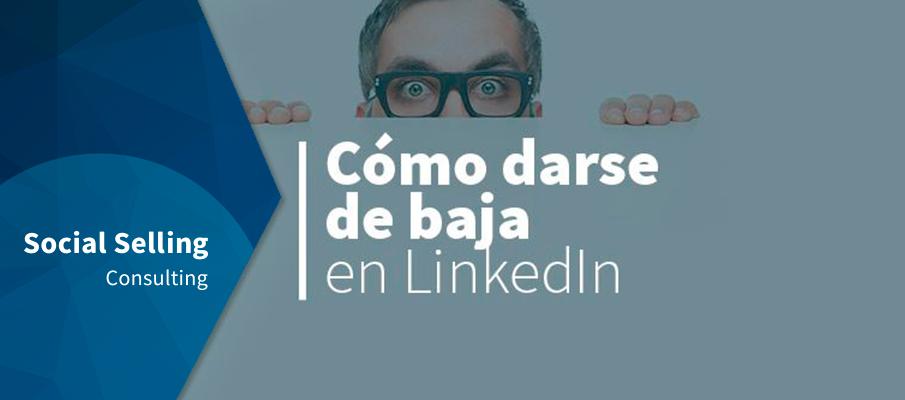 Cómo darse de baja en LinkedIn