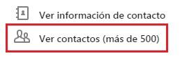 Contacto LinkedIn - Ver contactos de un contacto de primer grado