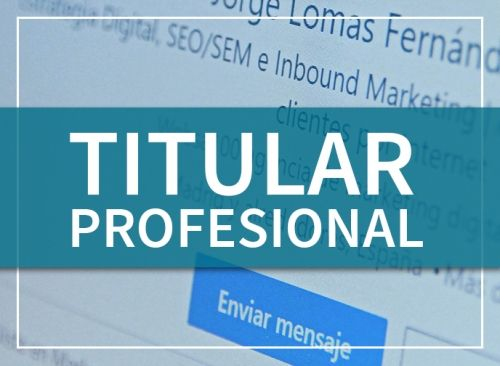 servicio de redacción de titular profesional