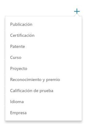 Recién graduado - Añadir Logros en la sección de Logros del perfil de LinkedIn.