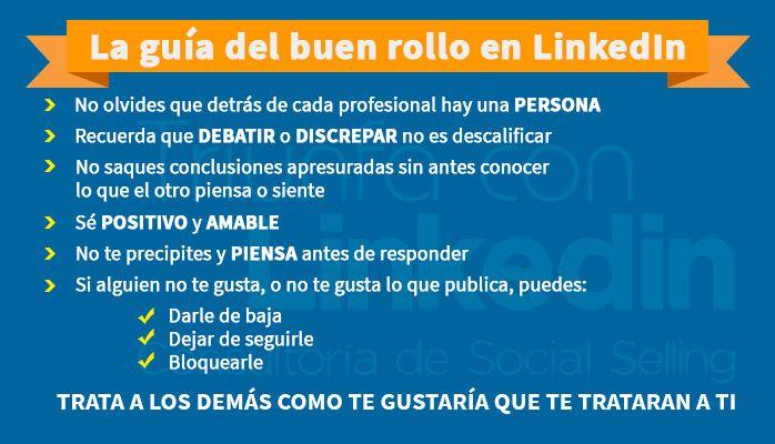 Netiqueta: Guía del buen rollo en LinkedIn - Infografía