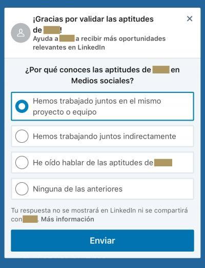 skills aptitudes LinkedIn