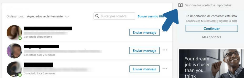 Como exportar contactos LinkedIn en un excel