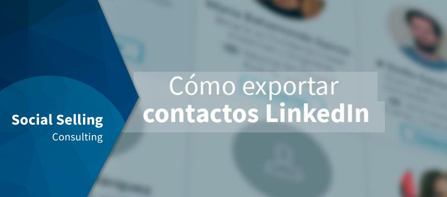 como exportar contactos linkedin