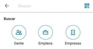 LinkedIn App - Pantalla Buscar Gente Empleos Empresas