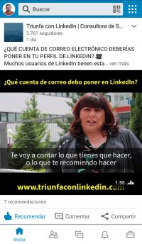 LinkedIn App - Página de inicio