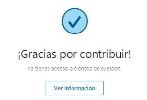 """LinkedIn Salary - Ventana """"Gracias por contribuir"""""""