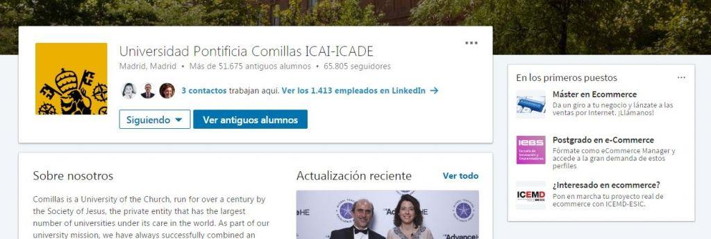 LinkedIn alumni tipos de contactos profesionales