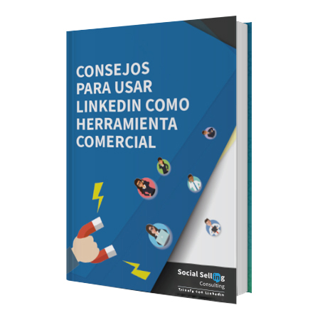 consejos linkedin comercial mockup ebook