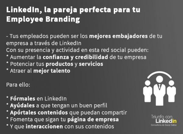 Employee branding en LinkedIn - Infografía