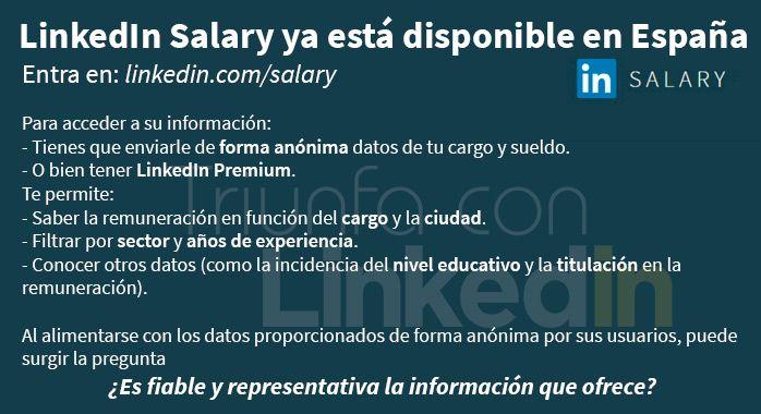 Llega a España LinkedIn Salary - Infografía