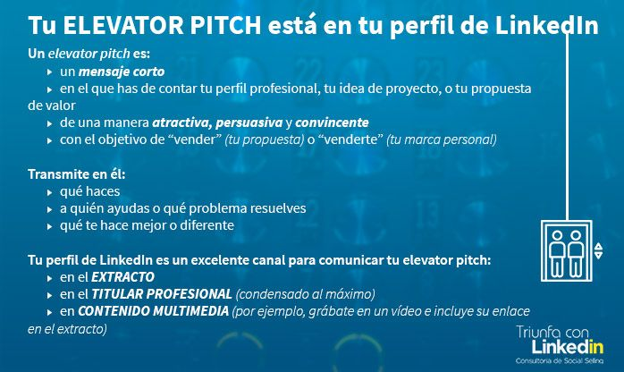 elevator pitch Linkedin