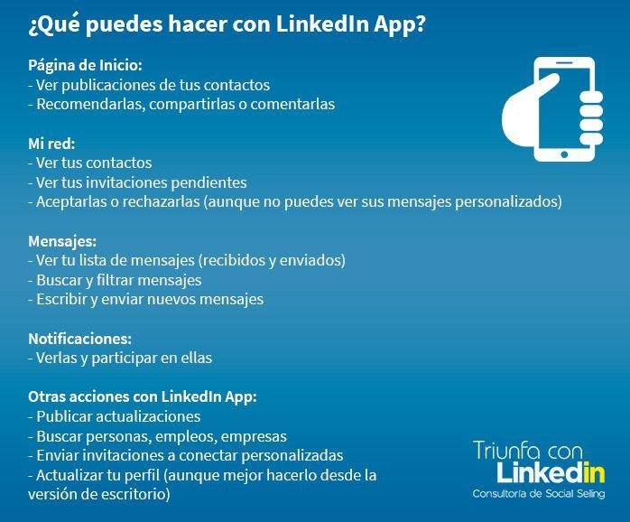 LinkedIn App - Infografía