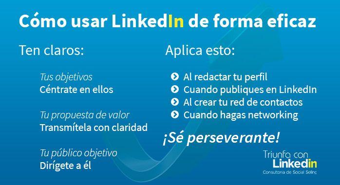 Cómo usar LinkedIn de forma eficaz - Infografía