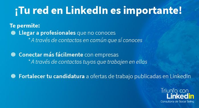 Tu red en LinkedIn es importante - Infografía