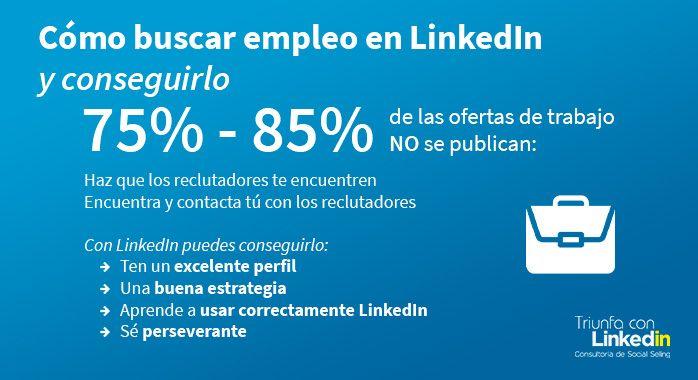 Cómo buscar empleo en LinkedIn - Infografía