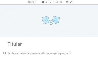 Editor de LinkedIn Pulse - Vista general