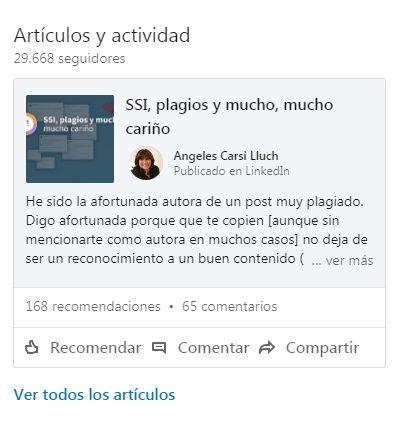 LinkedIn Pulse - Artículos y actividad