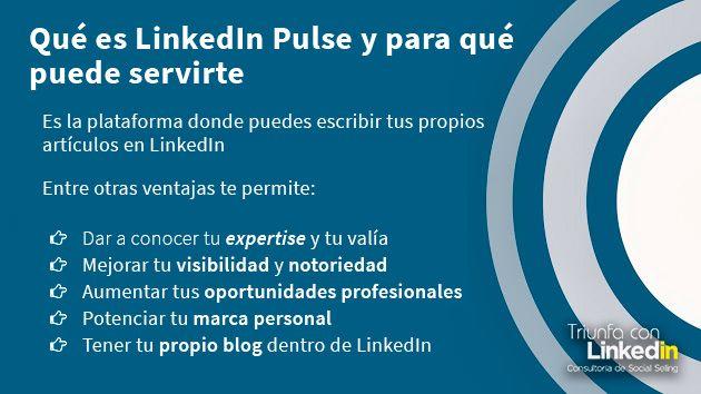 LinkedIn Pulse - Qué es y para qué puede servirte - Infografía