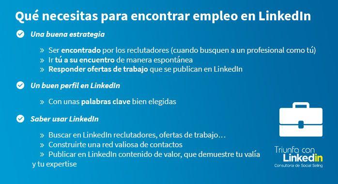 Qué necesitas para encontrar empleo en LinkedIn - Infografía