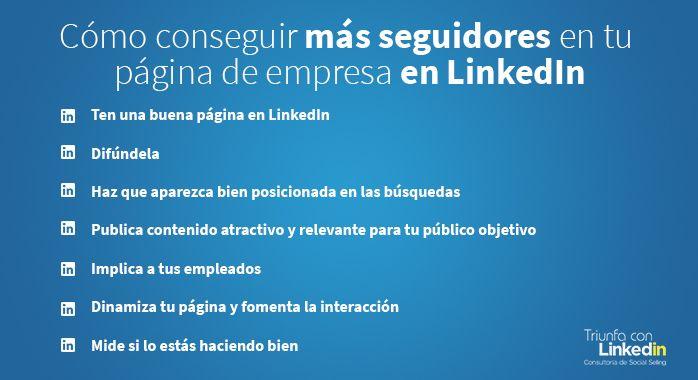 Cómo conseguir más seguidores LinkedIn (Infografía)