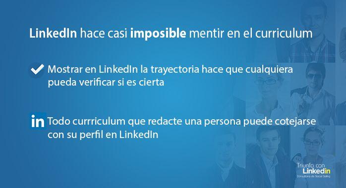 Con LinkedIn es casi imposible mentir en el curriculum - Infografía