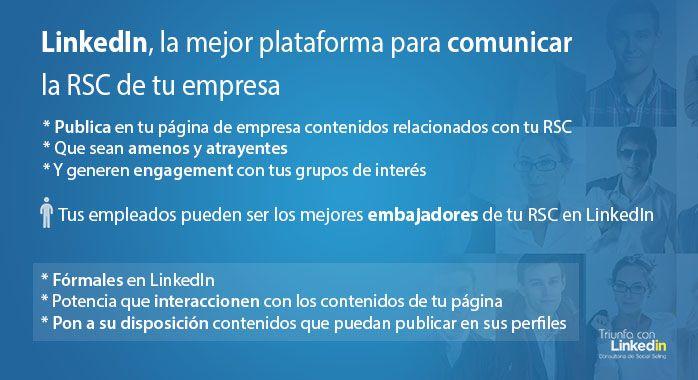 LinkedIn, la mejor plataforma para trabajar la Responsabilidad Social Corporativa de tu empresa - Infografía