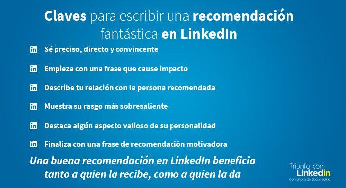 Cómo hacer una recomendación en LinkedIn - Infografía