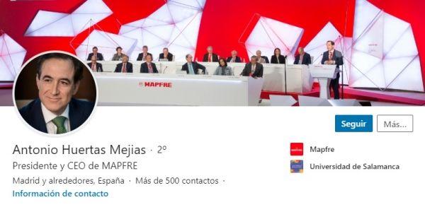 Perfil LinkedIn Antonio Huertas, CEO del Ibex 35