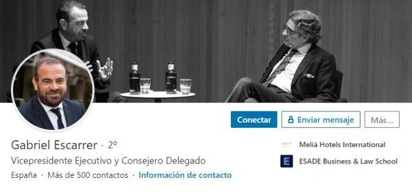 Perfil LinkedIn Gabriel Escarrer, CEO del Ibex 35