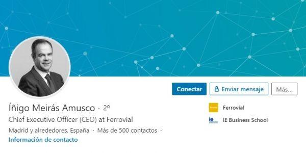 Perfil LinkedIn Íñigo Meirás