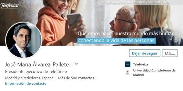 Perfil LinkedIn José María Álvarez-Pallete, CEO del Ibex 35