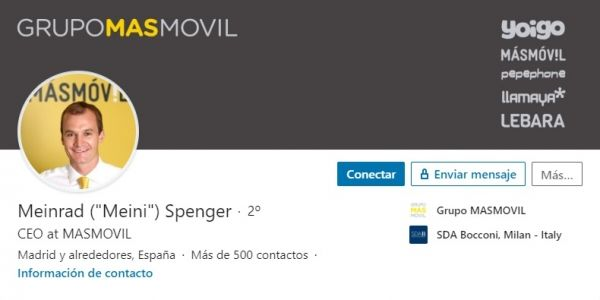 Perfil LinkedIn Meinrad Spenger, CEO del Ibex 35