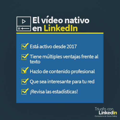Infografía vídeo nativo en LinkedIn