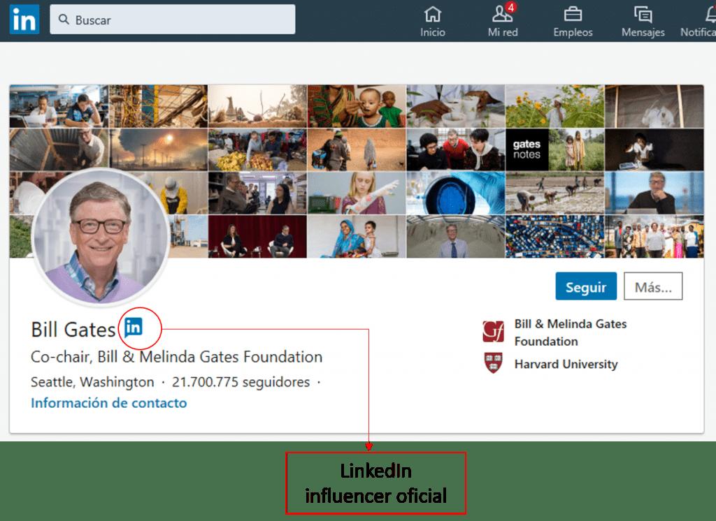 Linkedin influencer oficial
