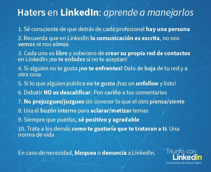 Haters en LinkedIn: aprende a manejarlos infografía