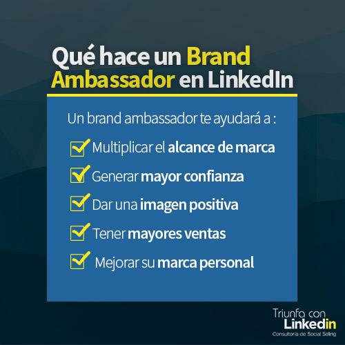 Qué hace un brand ambassador en LinkedIn Infografía