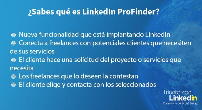 Qué es LinkedIn ProFinder - Infografía